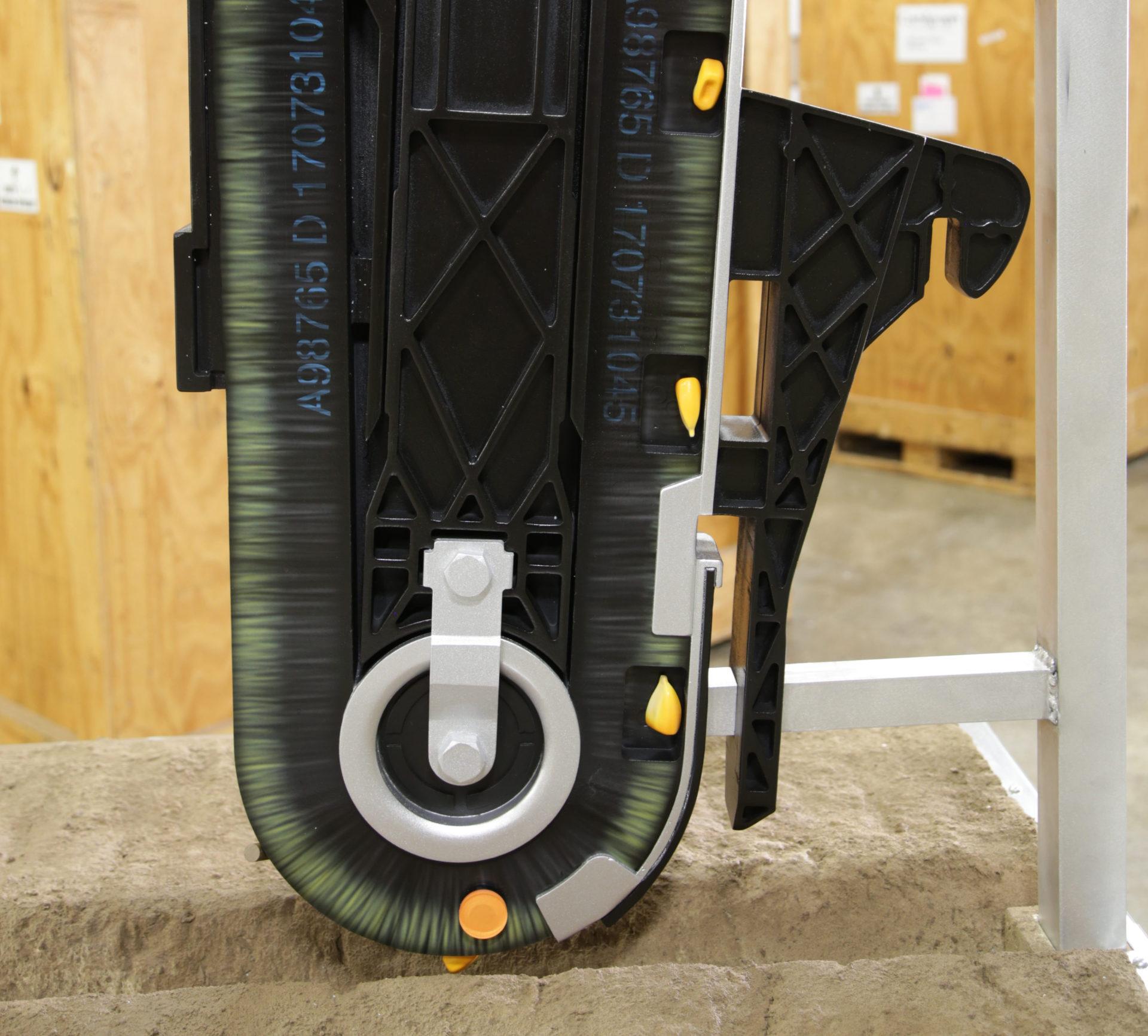 John Deere Brush Belt Display Close Up
