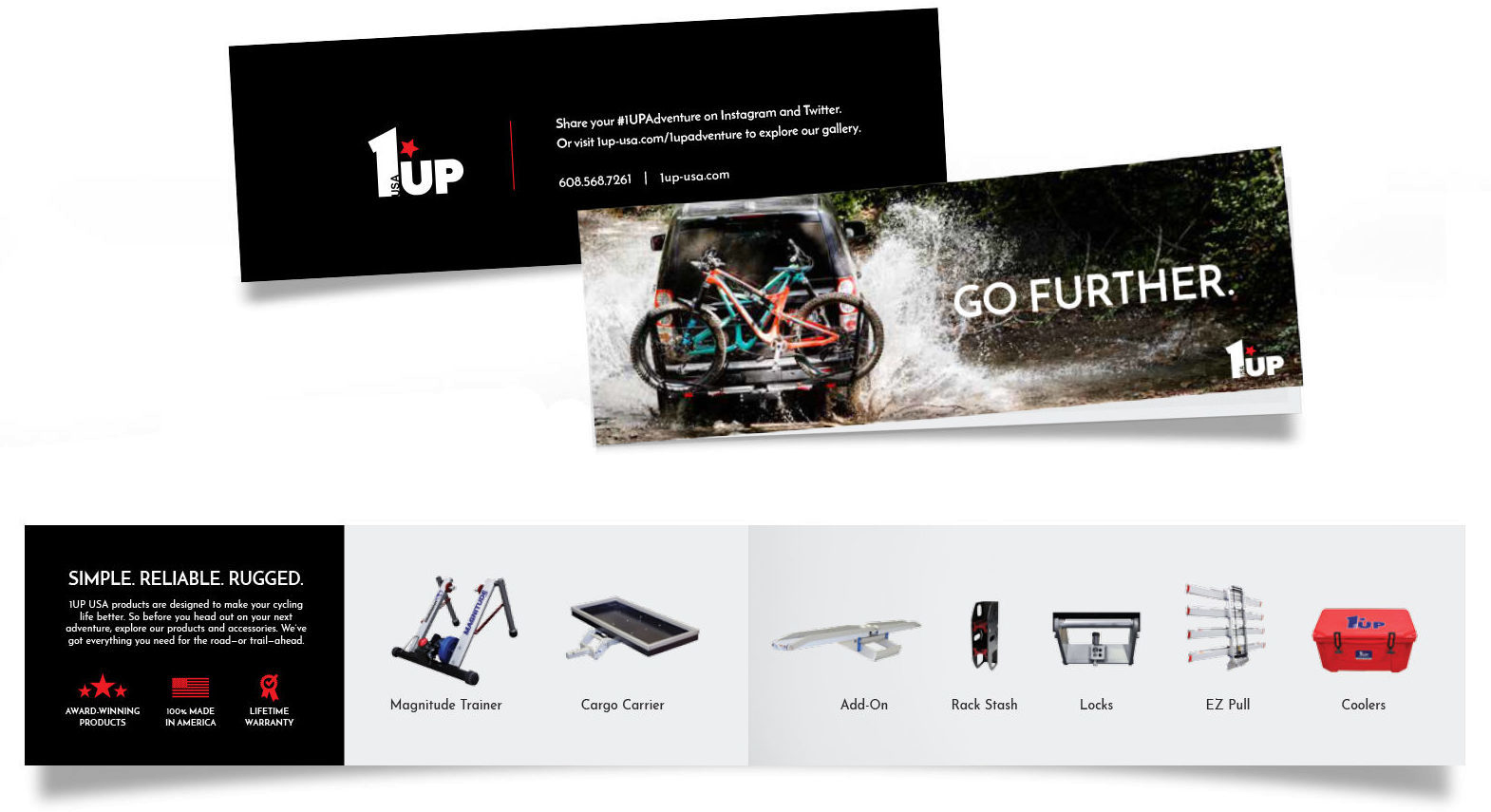 1UP USA Product Catalog Leave Behind Interior and Exterior