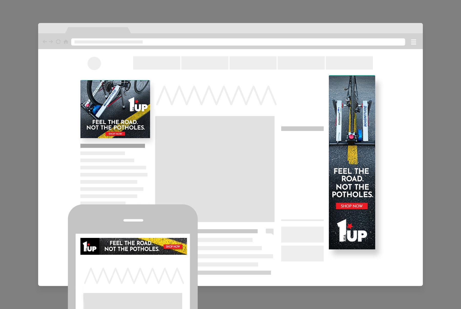 1UP USA Digital Banner Ads