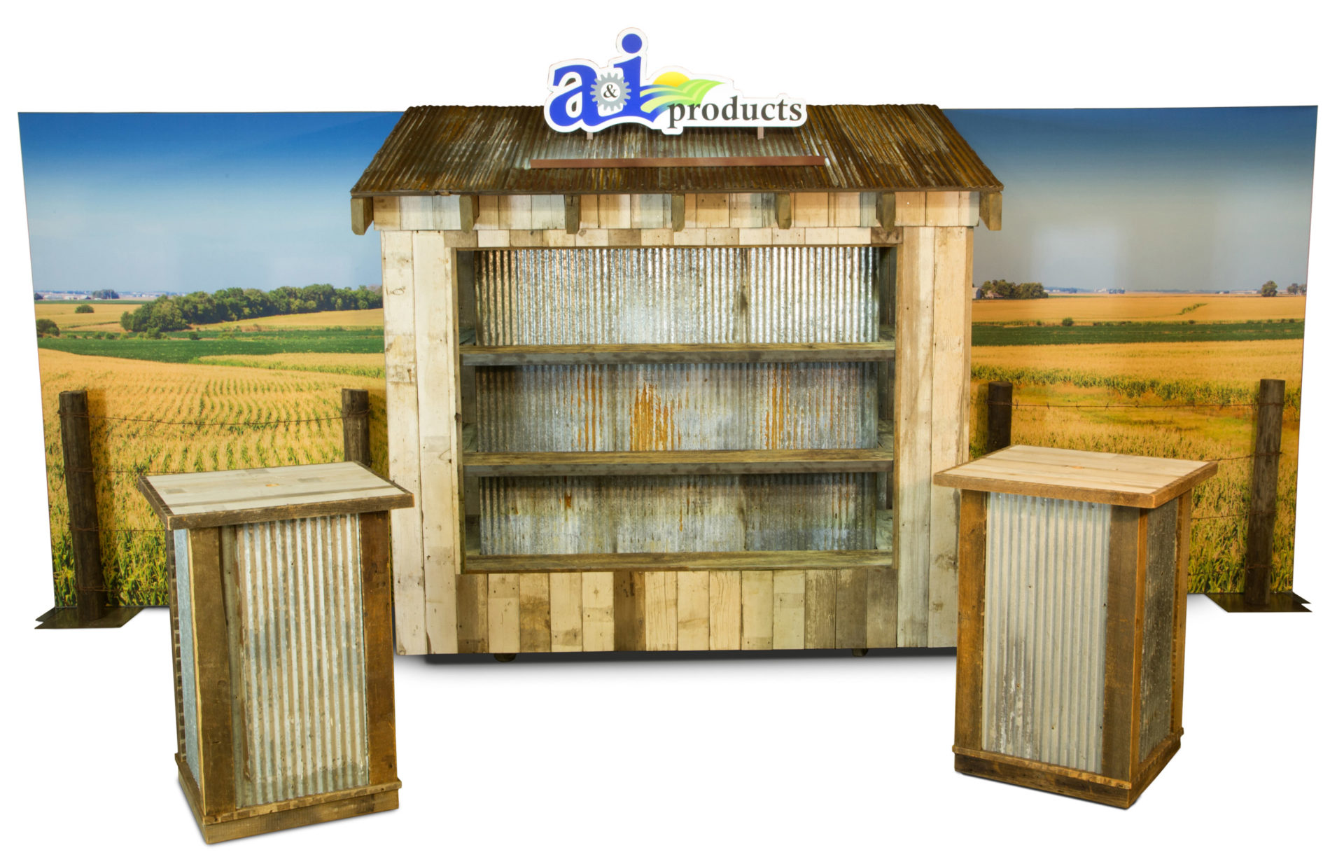 A&I Products Tradeshow Wooden Display