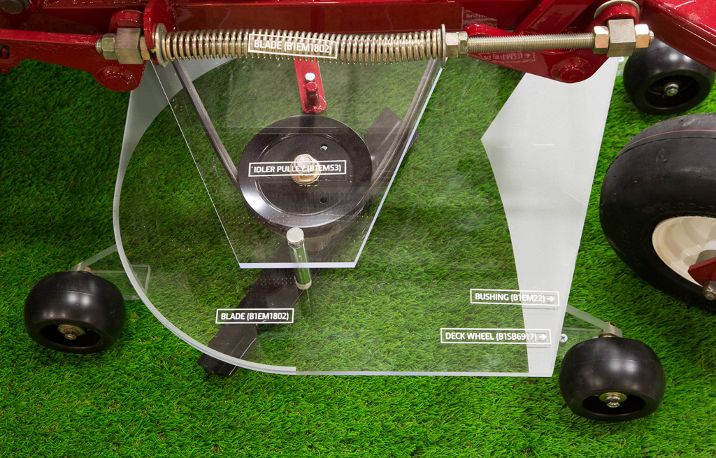 A&I Products Tradeshow Mower Deck Display Close Up