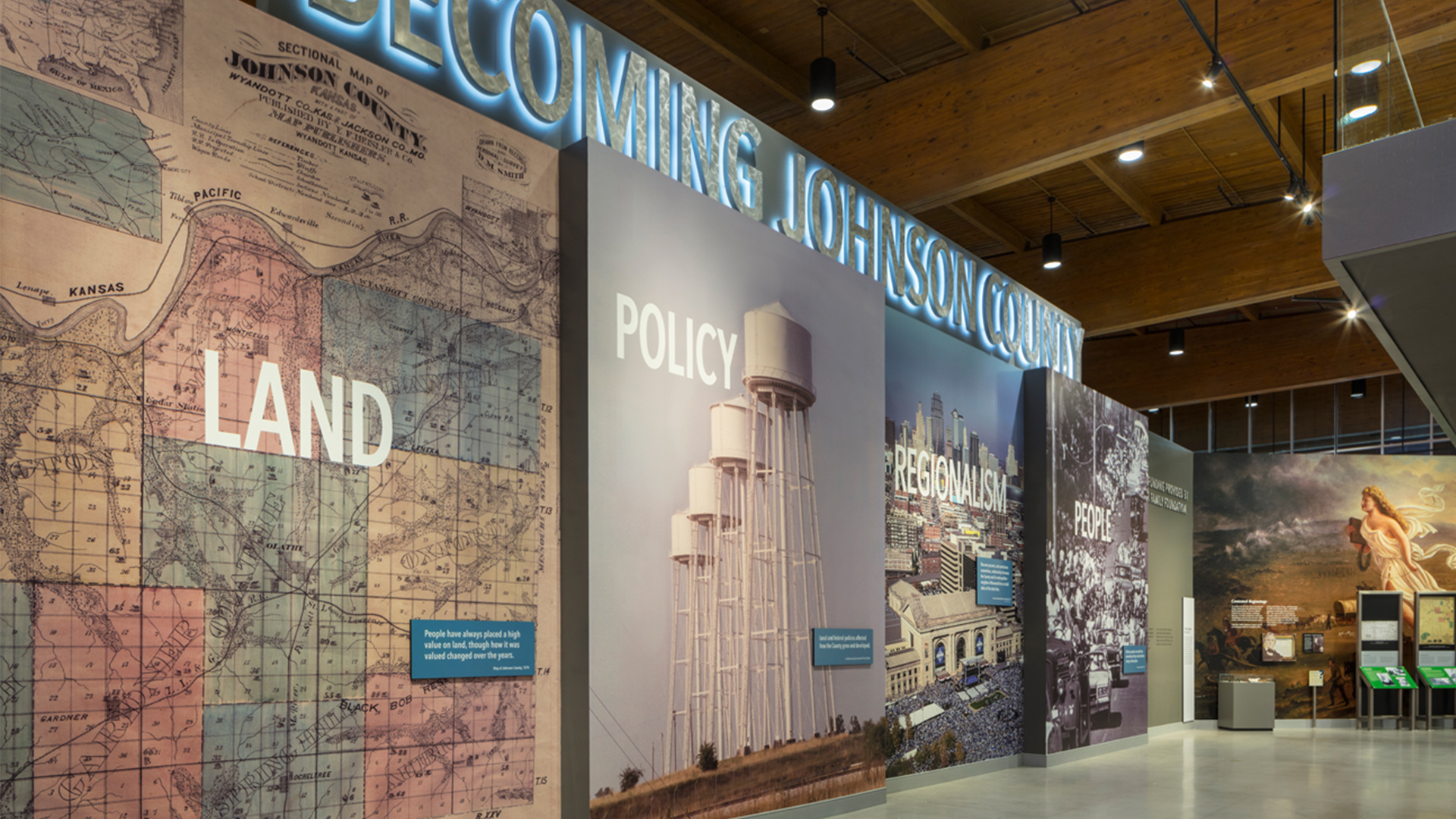 Becoming Johnson County Museum Wall Graphics