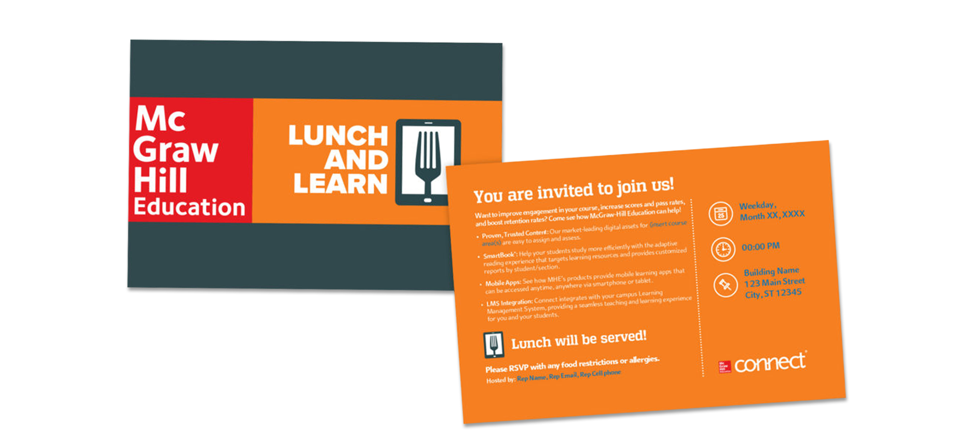McGraw-Hill Lunch and Learn Direct Mail