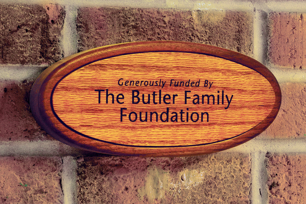 Boys & Girls Club The Butler Family Foundation Recognition Display