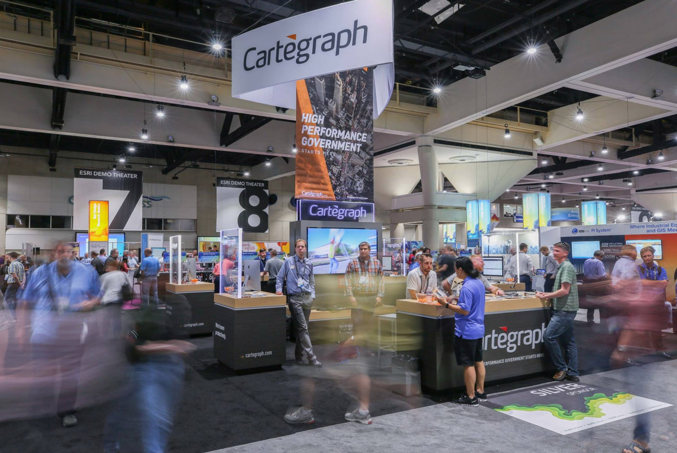 People at the Cartegraph Tradeshow Booth
