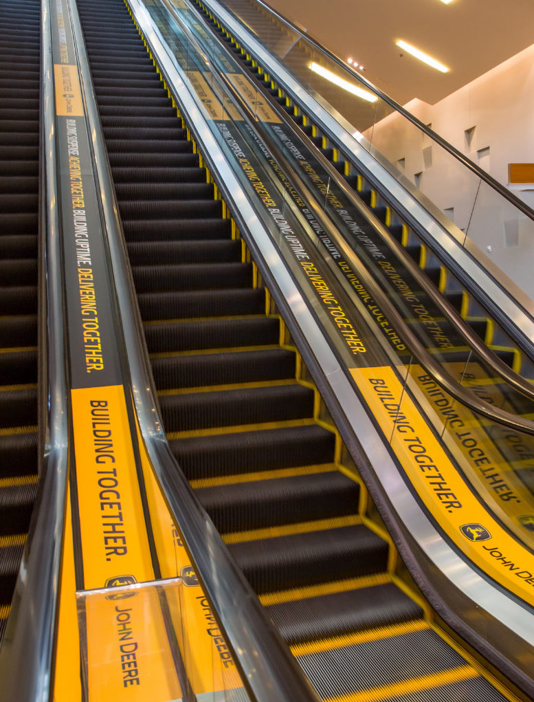 John Deere Branded Escalators at the 2014 ConExpo Hospitality Event