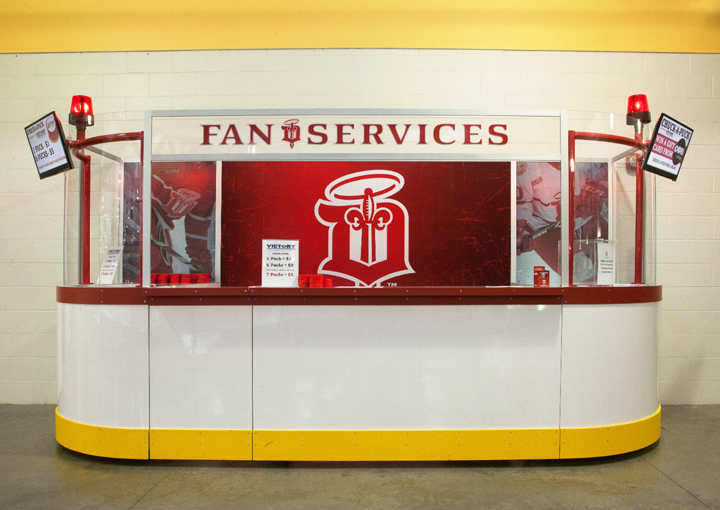 Dubuque Fighting Saints Fan Services Booth