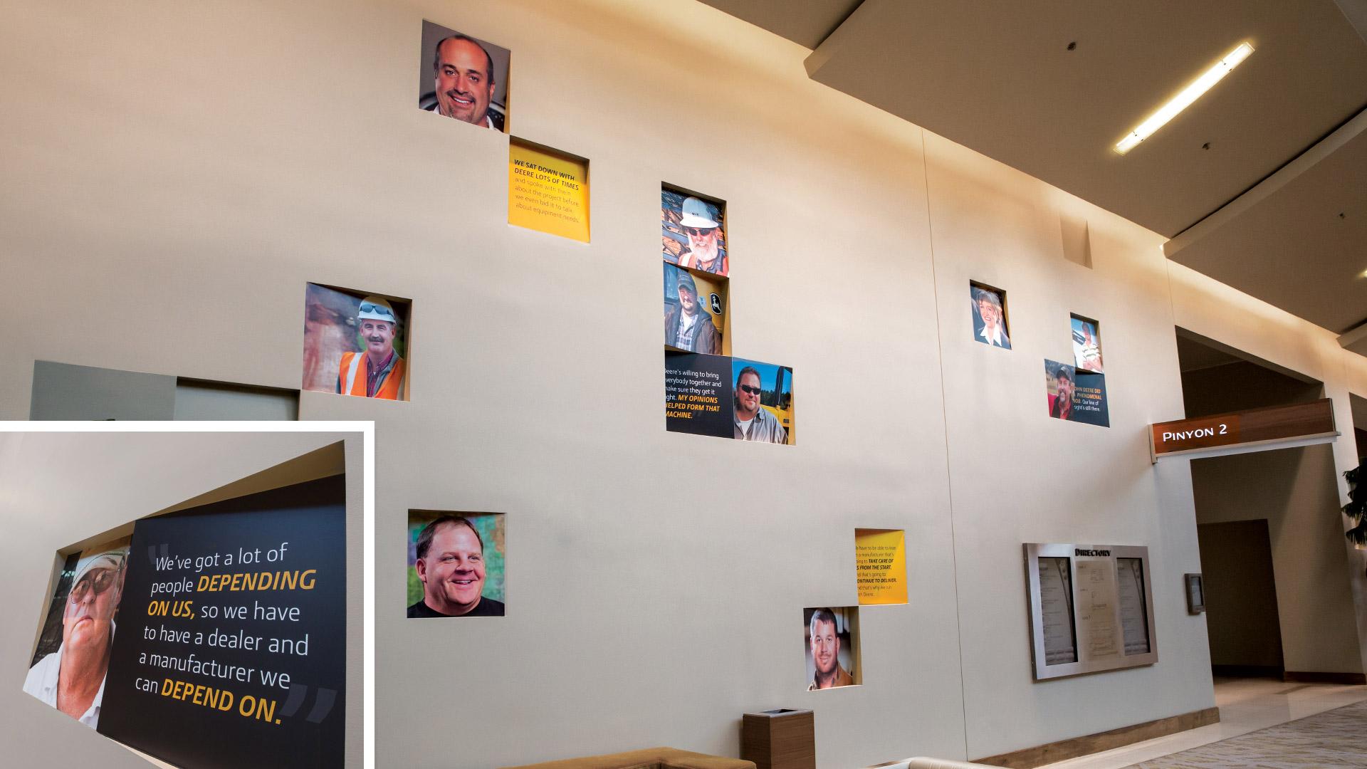 John Deere 2014 ConExpo Hospitality Event Wall Testimonial Graphics