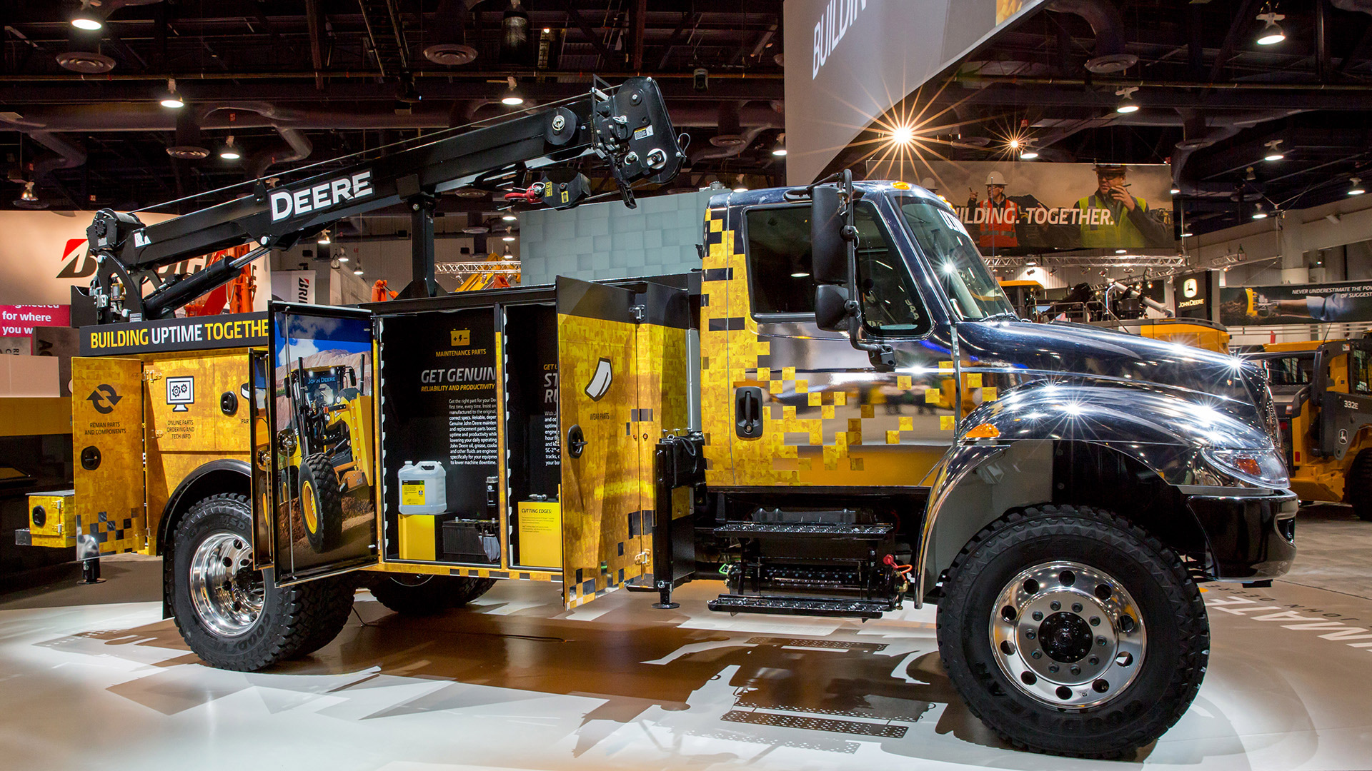 John Deere ConExpo Service Truck Display at 2014 ConExpo