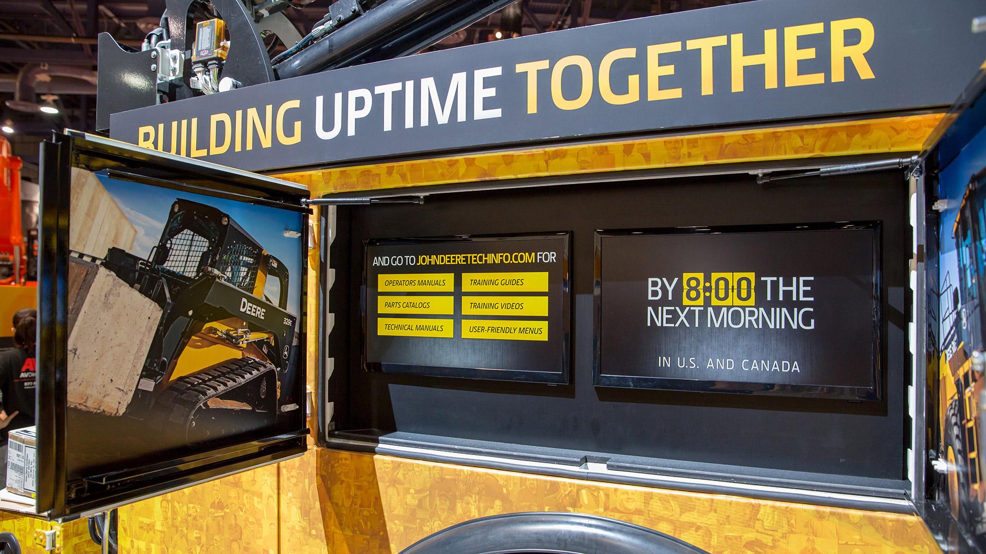 John Deere ConExpo Service Truck Wrap Display Units
