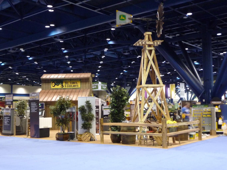 John Deere Oil Booth Display Backside