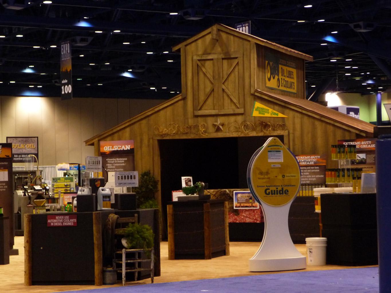 John Deere Oil Booth Display Frontside