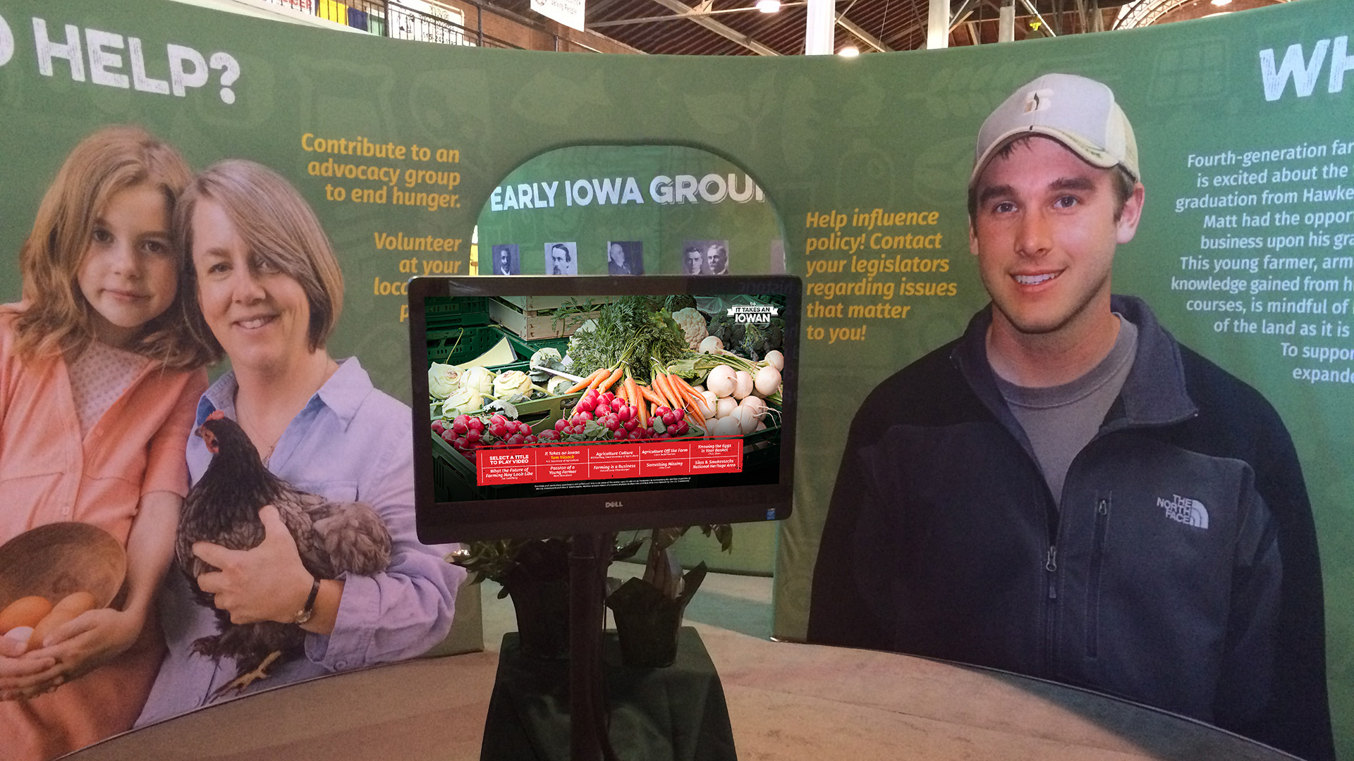 It Takes an Iowan Booth Display Interactive
