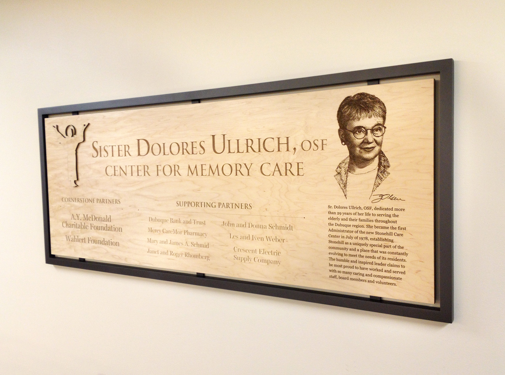 Stonehill Sister Dolores Ullrich Wall Plaques Right-side View