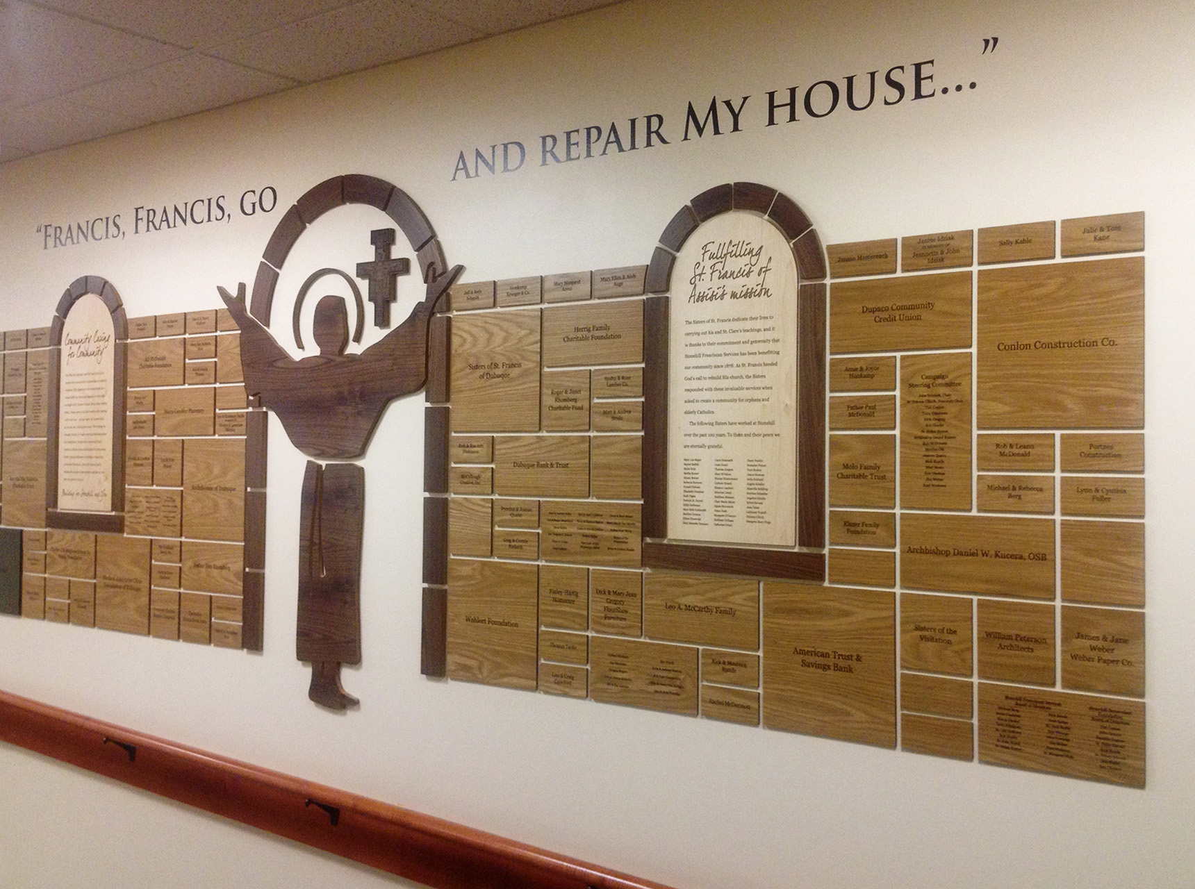 """Stonehill Francis, Francis, Go and Repair My House"""" Wall Plaque Display"""