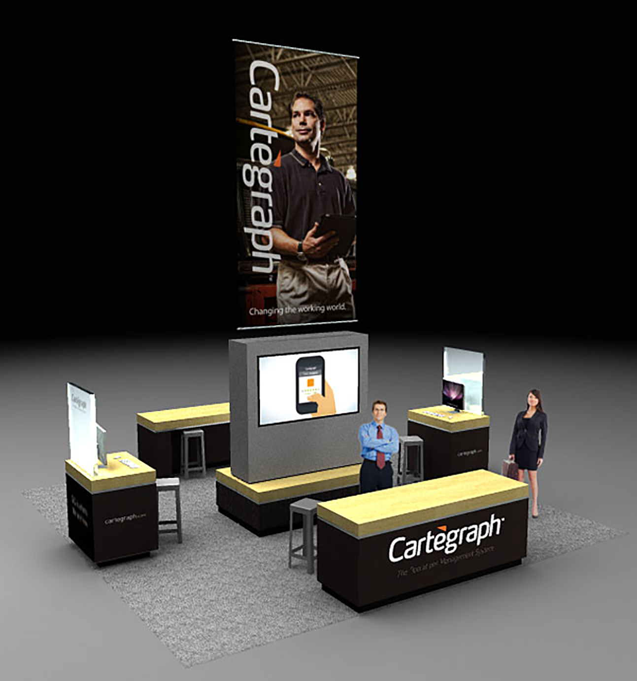 Cartegraph Tradeshow Booth Render