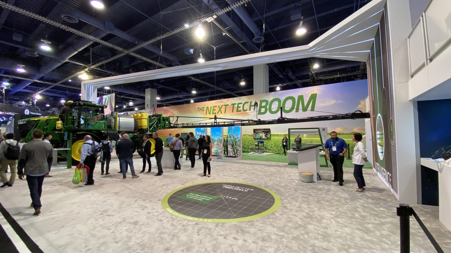 People at the John Deere CES 2020 Booth