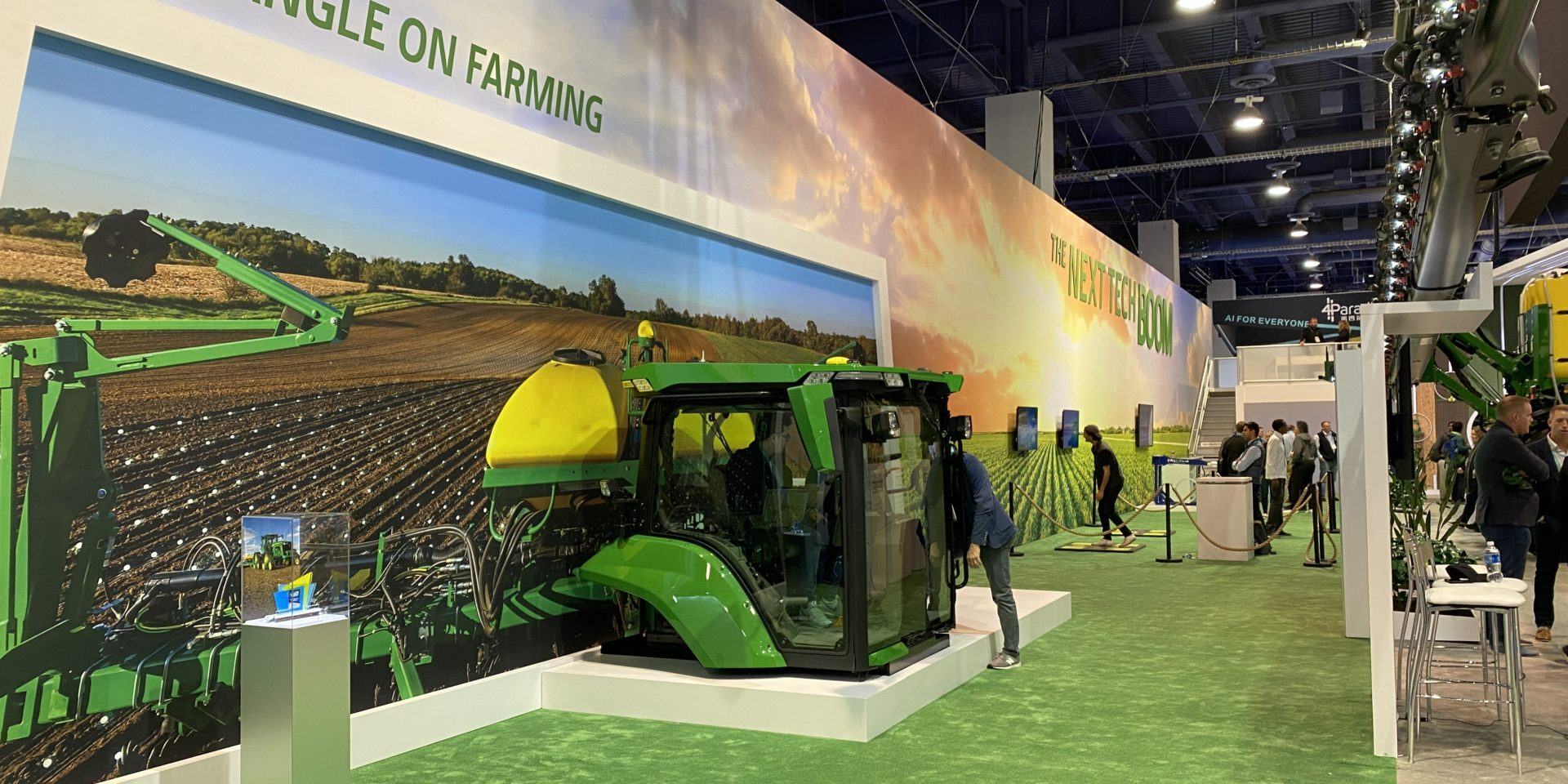 John Deere CES 2020 Booth, Life sized tractor display
