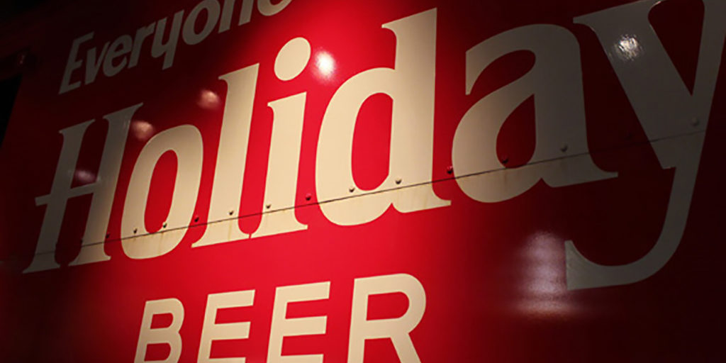 Potosi Brewing Company Museum Holiday Beer Sign